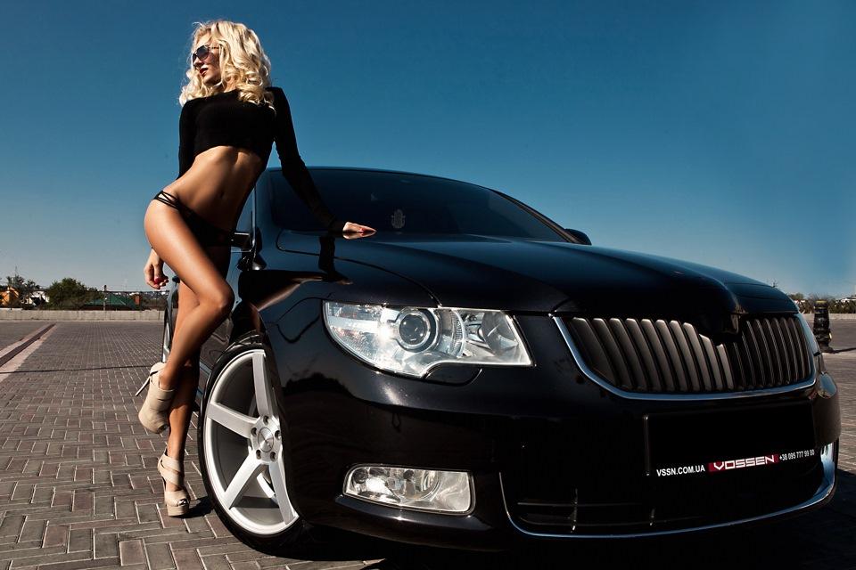 фото девушки и авто